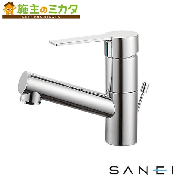 三栄水栓 【K475PJV-1-13】 シングルワンホール洗面混合栓 混合水栓 ★