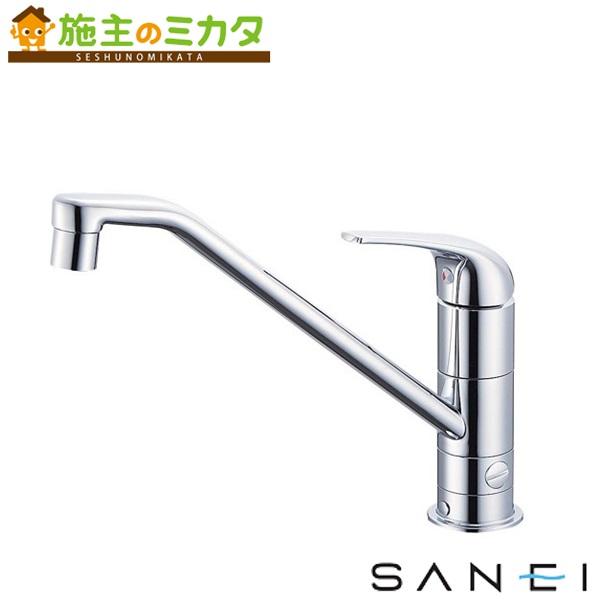 三栄水栓 【K87010BTJV-13】 シングルワンホール分岐混合栓 混合水栓 ★