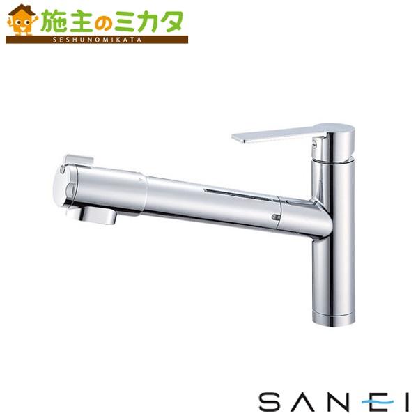 三栄水栓 【K87580JV-13】 シングル浄水器付ワンホールスプレー混合栓 混合水栓 ★