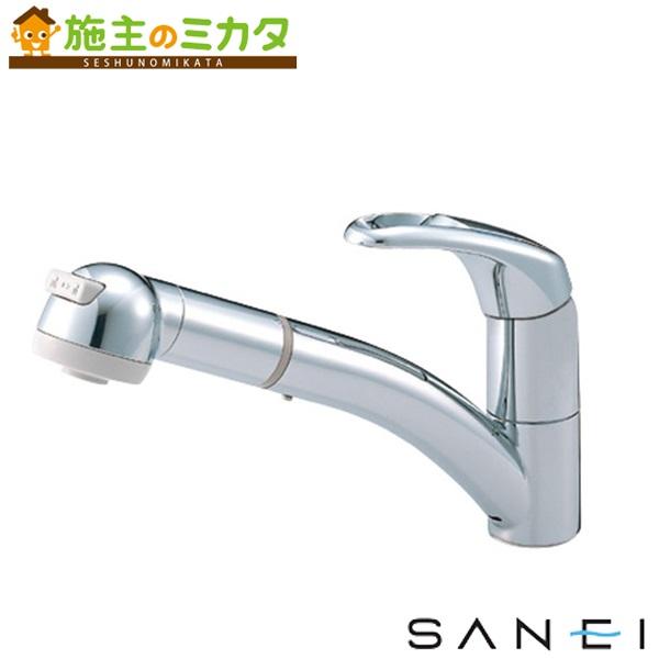 三栄水栓 【K8760JK-C-13】 シングルワンホールスプレー混合栓 寒冷地用 混合水栓 ★