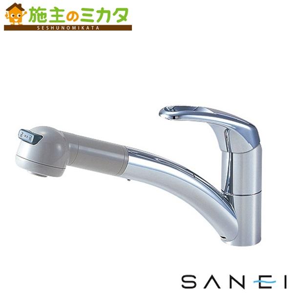三栄水栓 【K8760JV-13】 シングルワンホールスプレー混合栓 混合水栓 ★