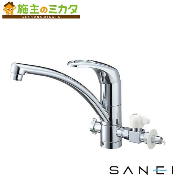 三栄水栓 【K8761TJV-V2S-13】 シングルワンホール分岐混合栓 混合水栓 ★