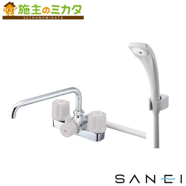 三栄水栓 【SK710-LH-13】 ツーバルブデッキシャワー混合栓 混合水栓 ★