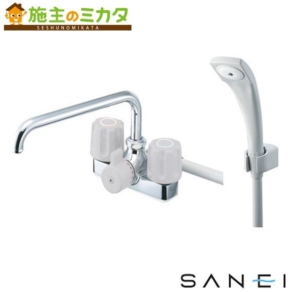 三栄水栓 【SK71K-LH-13】 ツーバルブデッキシャワー混合栓 混合水栓 ★