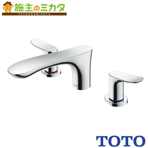 TOTO 洗面所用水栓 【TBG01201J】 GOシリーズ 台付2ハンドル混合水栓 一般地・寒冷地共用