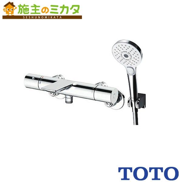 TOTO 浴室用水栓金具 【TBV01S01J】 壁付サーモスタット 混合水栓 コンフォートウェーブ3モード 偏心脚