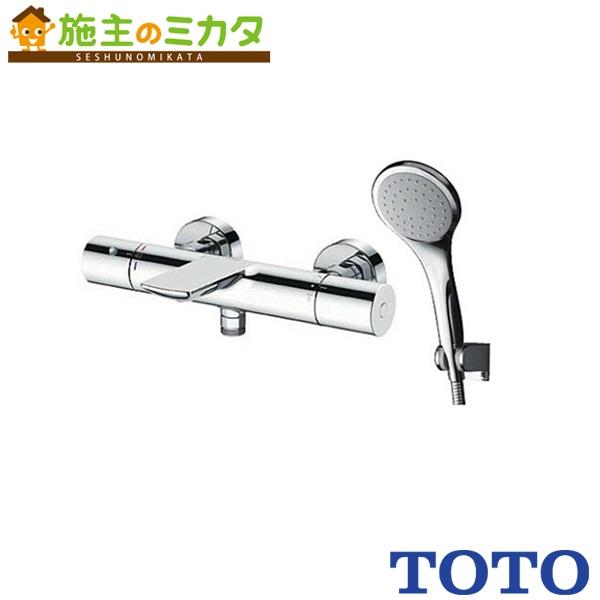 TOTO 浴室用水栓金具 【TBV01S09J】 壁付サーモスタット 混合水栓 エアイン120めっき ストレート脚