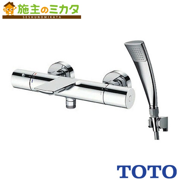 TOTO 浴室用水栓金具 【TBV01S10J】 壁付サーモスタット 混合水栓 エアインめっき ストレート脚
