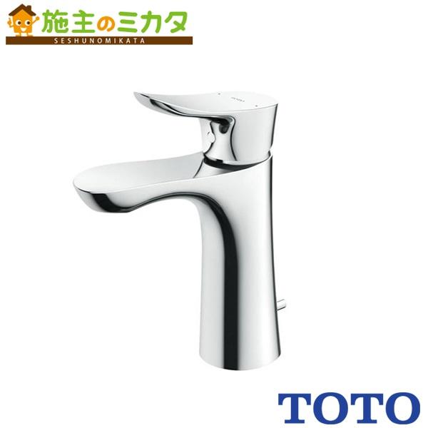 TOTO 洗面所用水栓 【TLG01302J】 GOシリーズ 台付きシングル 混合水栓 逆支弁 ワンプッシュ式 エコシングル