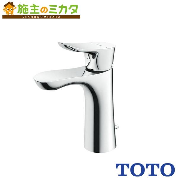 TOTO 洗面所用水栓 【TLG01303J】 GOシリーズ 台付きシングル 混合水栓 逆支弁 ワンプッシュなし エコシングル