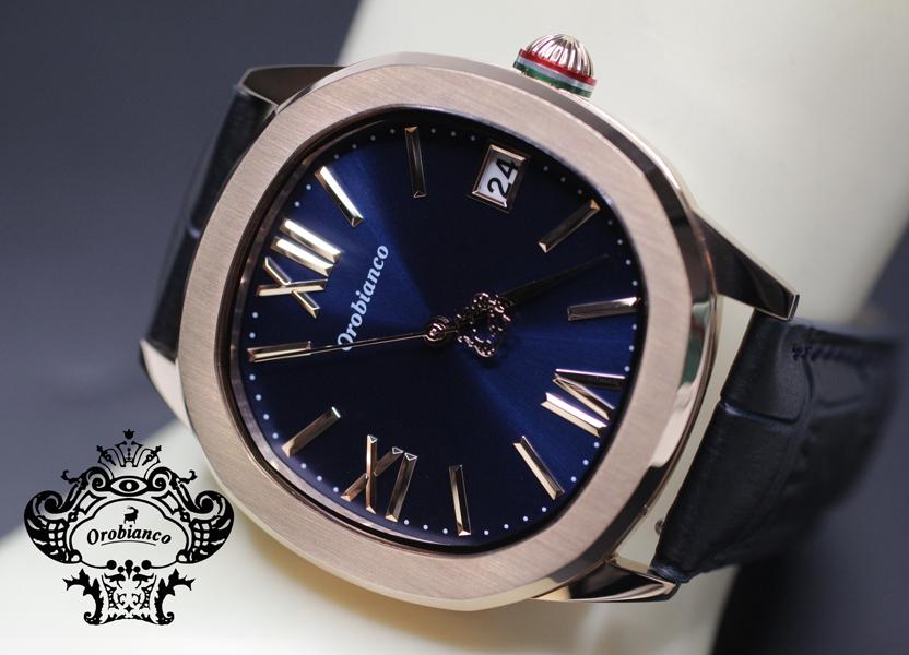 オロビアンコ正規販売店 送料無料 オロビアンコ Orobianco 時計 オッタンゴラ OTTANGORA 正規品 メンズ ピンクゴールド色ケース 腕時計 OR0078-5 オロビアンコブルー文字板 販売 新品未使用正規品