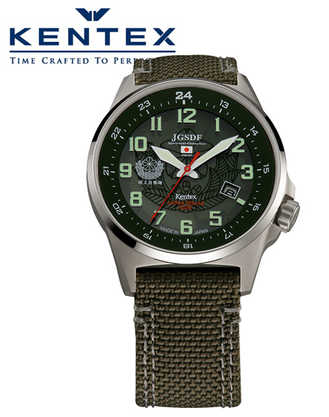返品不可 ケンテックス正規販売店 CLUBK会員登録で 2年間の延長保証 ケンテックス KENTEX ソーラー 腕時計 正規品 バリステックナイロンバンド採用 グリーン 送料無料 S715M-01 JSDF 数量限定 陸上自衛隊モデル