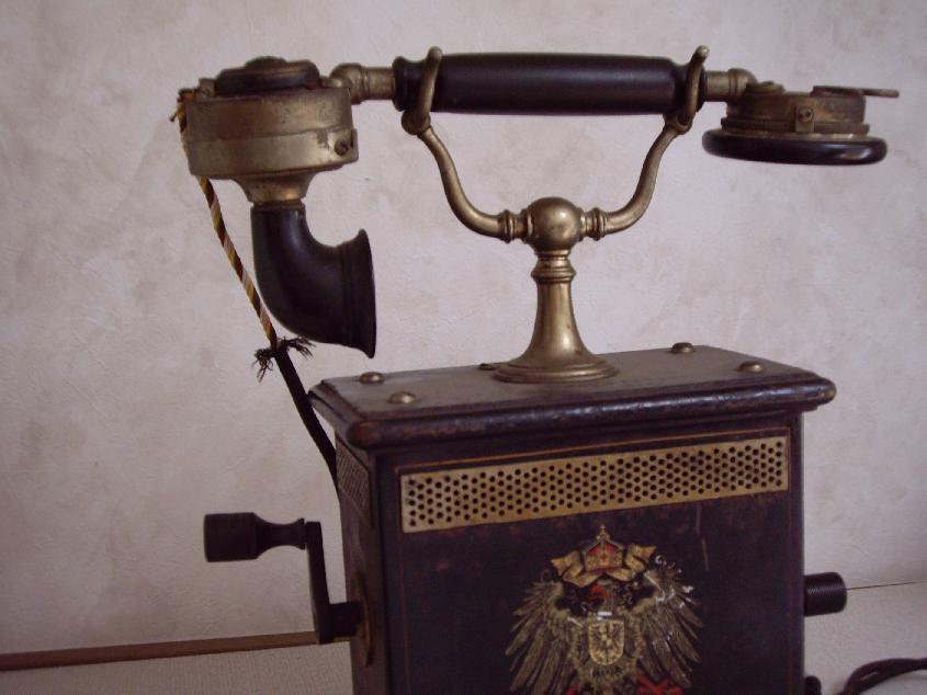 希少★ドイツ戦前の高級【磁石ハンドル式電話機】 骨董 インテリア