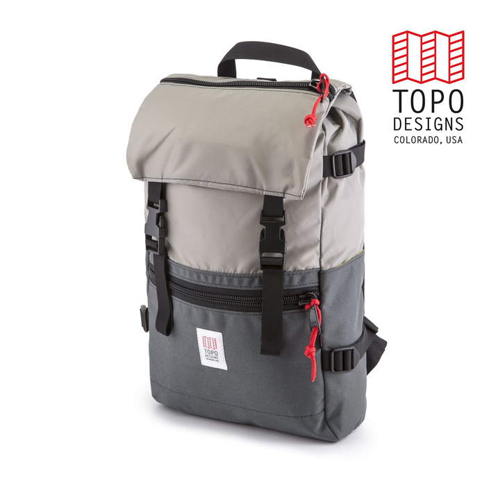 TOPO DESIGNS トポデザイン Rover Pack ローバーパック Silver/Charcoal シルバー/チャコール バックパック アウトドア カジュアル 収納 リュック メンズ レディース 通学用