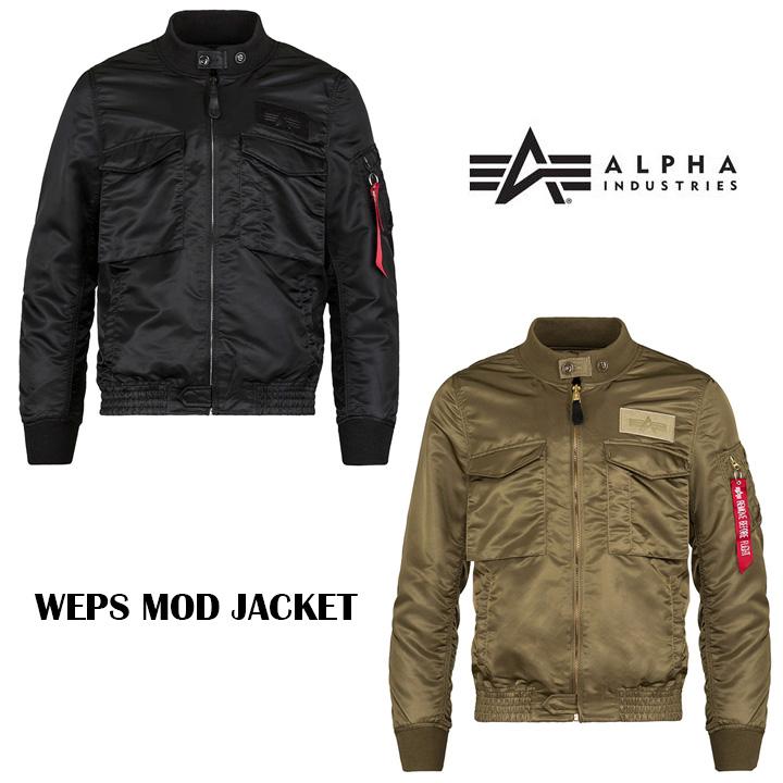 アルファインダストリー ALPHA INDUSTRIES Weps Mod Jacket フライトジャケット メンズ