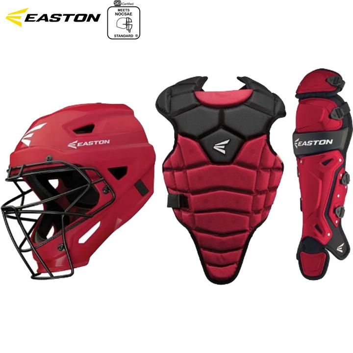 【USA物】 イーストン EASTON  M5 Qwik Fit キャッチャー防具セット 少年硬式 リトルリーグ用 Red レッド