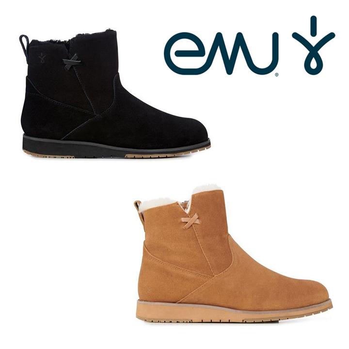 エミュー EMU シープスキン ファー ジップアップ スエードブーツビーチ ミニ Beach Mini レディース ムートン 靴  w11026