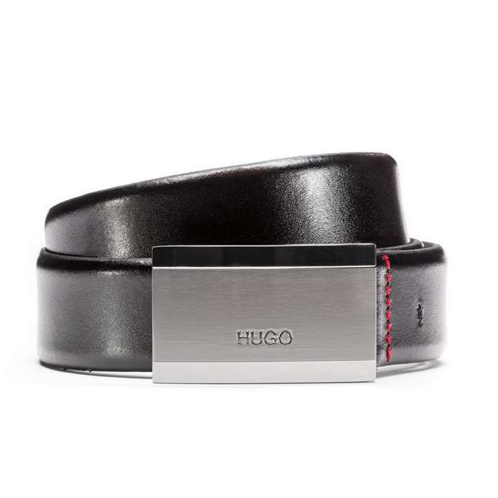 【日本未発売】ヒューゴボス Hugo Boss ベルトLogo-engraved belt ロゴ レザー