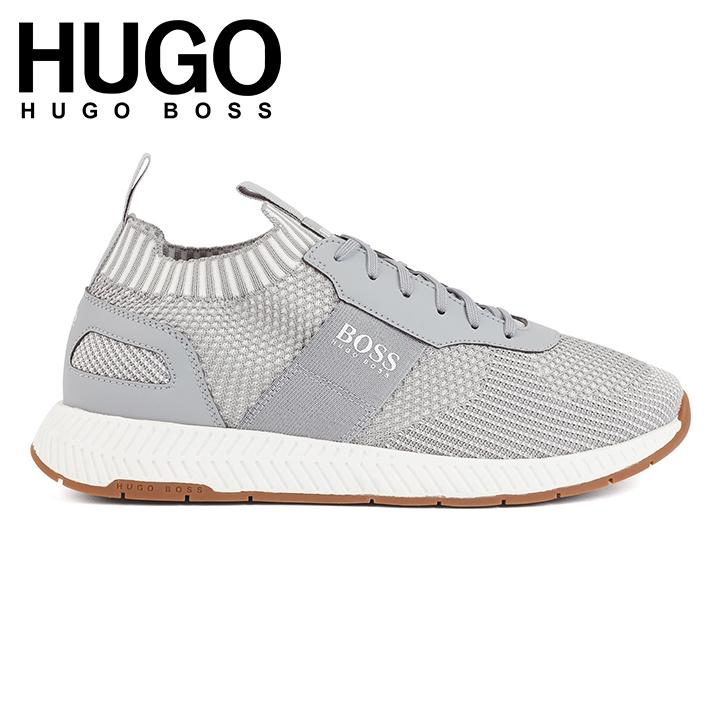 【日本未発売】ヒューゴボス Hugo Boss Knitted-upper trainers with sustainable S.Cafe yarns スニーカー靴  スカーフ