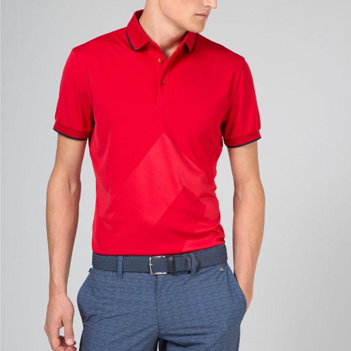 ジェイリンドバーグ J.Lindeberg ゴルフ ポロシャツMilton Reg TX Jersey+ Cooling Polo レッド Red レギュラーフィット
