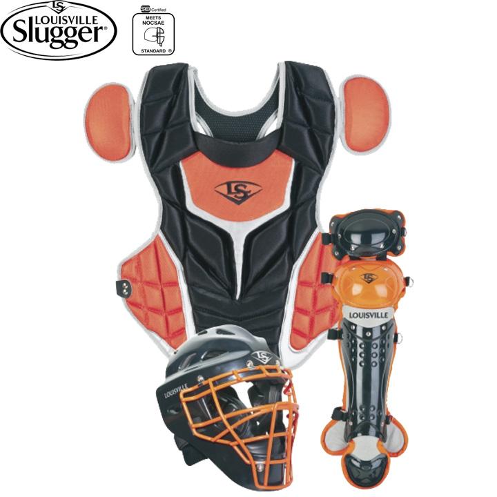 【USA物】 ルイビルスラッガー Series 5 シリーズ5 キャッチャー防具セット 少年硬式 リトルリーグ用 ブラック/オレンジ Louisville Slugger