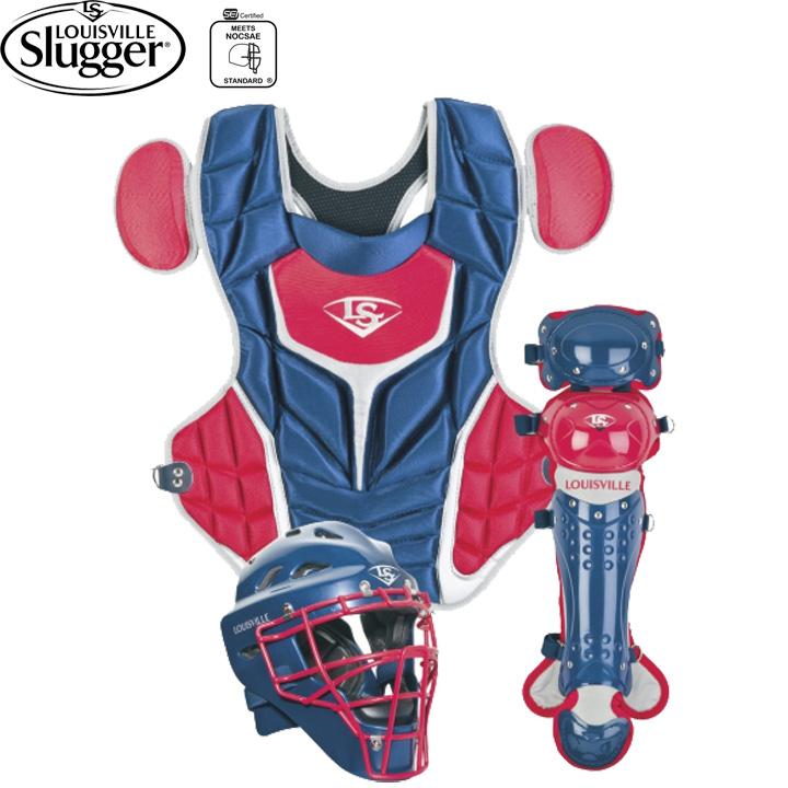 【USA物】 ルイビルスラッガー Series 5 シリーズ5 キャッチャー防具セット 少年硬式 リトルリーグ用 ネイビー/レッド Louisville Slugger