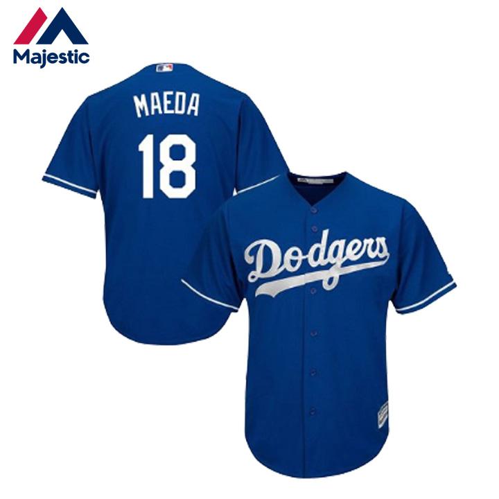 e1350940a MLB Los Angeles Dodgers Kenta Maeda model uniform replica 18 cool base  player replica jersey majestic