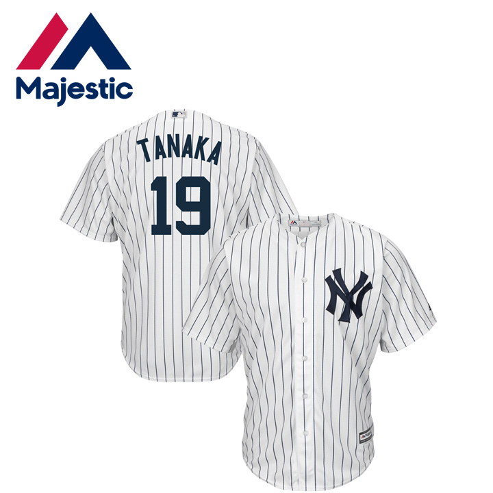 check out 6ba6e bdb89 MLB Yankees Masahiro Tanaka model uniform replica 19 cool base player  replica jersey home majestic Majestic