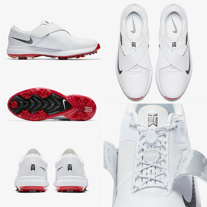 US型号Nike TW17耐克泰格·伍兹2017年型号人耐克高尔夫球鞋Golf Shoes白White