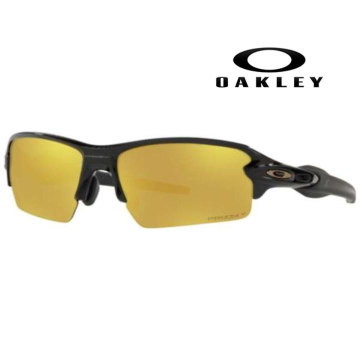 ★5倍ポイント☆3/26 1:59mまで★オークリー Oakley フラック2.0 偏光サングラス FLAK2.0 フラック Polished Black / Prizm 24K OO9271-3161 アジアフィット (ASIA FIT)