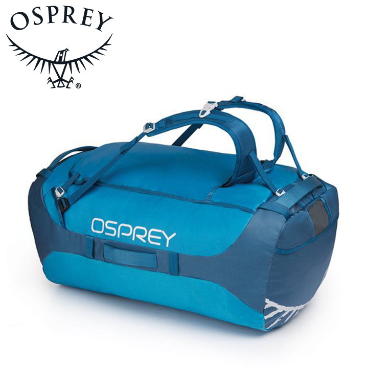Osprey オスプレー Transporter 130 トランスポーター 130 Kingfiser Blue ブルー ダッフルバッグ ボストンバッグ トラベル ダッフル アウトドアギア 登山用 長距離 ハイキング
