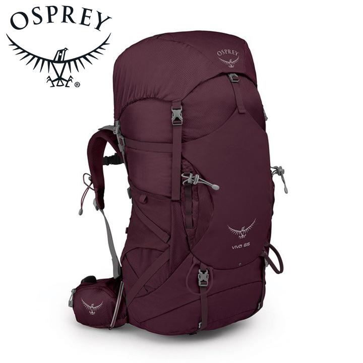 Osprey オスプレー Viva 65 ビバ65 Titan Red レッド 女性用 リュック バックパック バッグ トレッキングパック トレッキング アウトドア 登山用 長距離 ハイキング