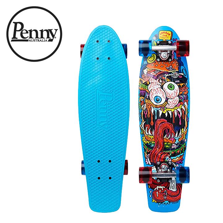 【送料無料】ペニー Penny 22インチ Burger Monster バーガーモンスター コンプリート スケートボード クルージングボード スケボー