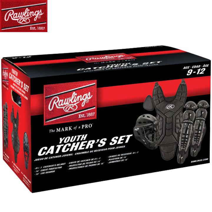 【USA物】 Rawlings ローリングス キャッチャー防具セット 少年硬式 リトルリーグ用 ブラック