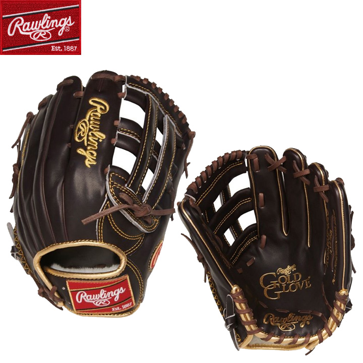 【USA物】Rawlings ローリングス 野球 グラブ ゴールドグローブシリーズ 硬式 野球 軟式 外野手用 グローブ