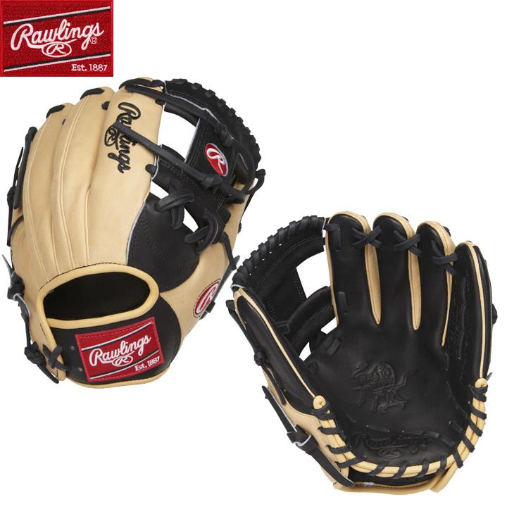 【USA物】Rawlings ローリングス 野球 グラブ MLB Iウェブ HOH (Heart of the Hide) 硬式 野球 軟式 内野手用 グローブ Tan/Black