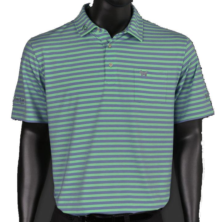 スコッティーキャメロン ポロシャツ Scotty Cameron「スコッティードッグ」Scotty Dog - Hwy 12 Seaside Wash Stripe Polo ポロ