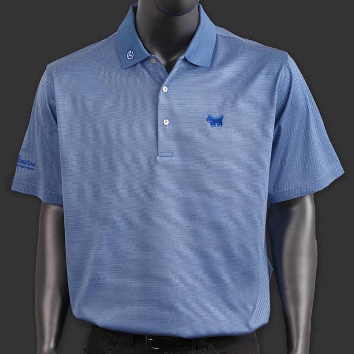 スコッティーキャメロン ポロシャツ Scotty Cameron「Finchs Stripe - Scottish Blue」Polo ポロ