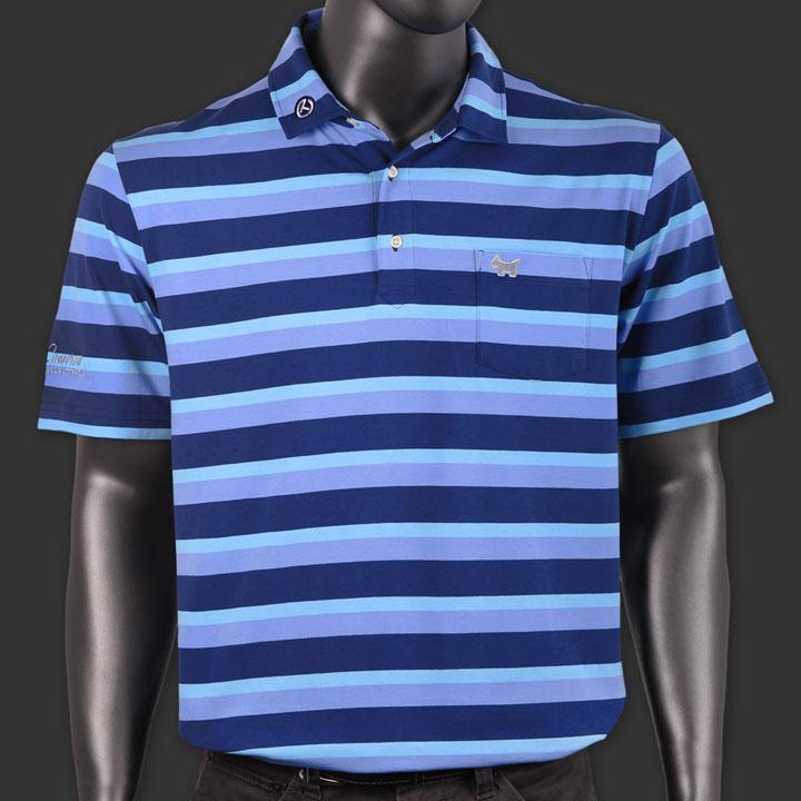 スコッティーキャメロン ポロシャツ Scotty Cameron「Masonboro Stripe - Scotty Dog - Blue」Polo ポロ