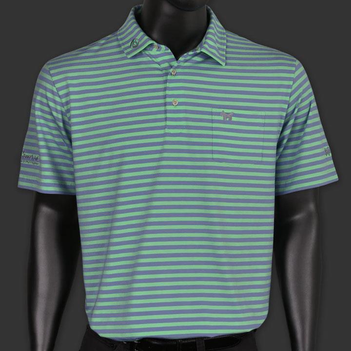 【50%割引!スーパーセール】 スコッティーキャメロン ポロシャツ Scotty Cameron「スコッティードッグ」Scotty Dog - Hwy 12 Seaside Wash Stripe Polo ポロ