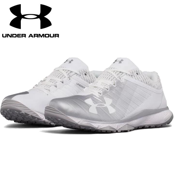 UNDER ARMOUR アンダーアーマー 野球 トレーニングシューズ White/Silver ホワイト/シルバー UA Yard Low Trainer ヤードロートレーナー メンズ 靴 トレシュ