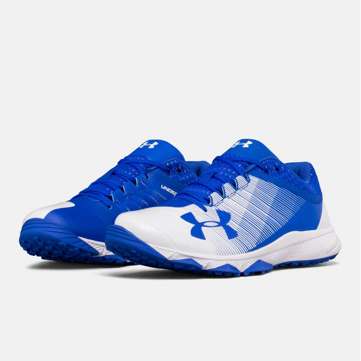 f95f97b2 ... 20:00 ~ 8/9 1:59 ☆ UNDER ARMOUR under Armour baseball training shoes  Blue/white blue / white UA Yard Low Trainer yard low trainer men shoes トレシュ
