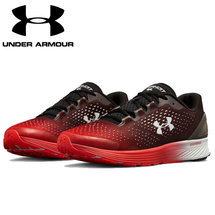 new arrival ff0ea 9f5d9 Under Armour UNDER ARMOUR チャージドバンディット 4 UA Charged Bandit 4 men's running  shoes sneakers black / red