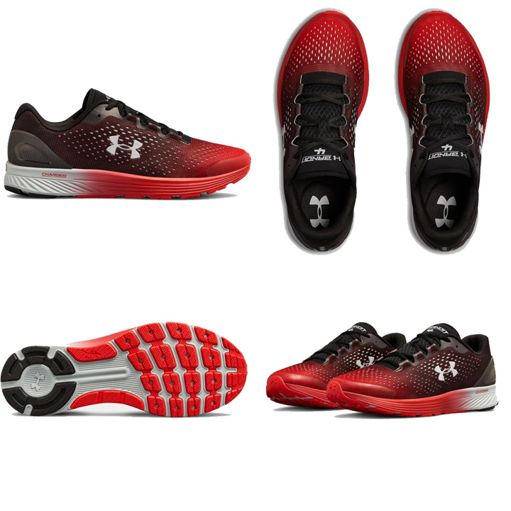 new arrival 2e31d dacc6 Under Armour UNDER ARMOUR チャージドバンディット 4 UA Charged Bandit 4 men's running  shoes sneakers black / red