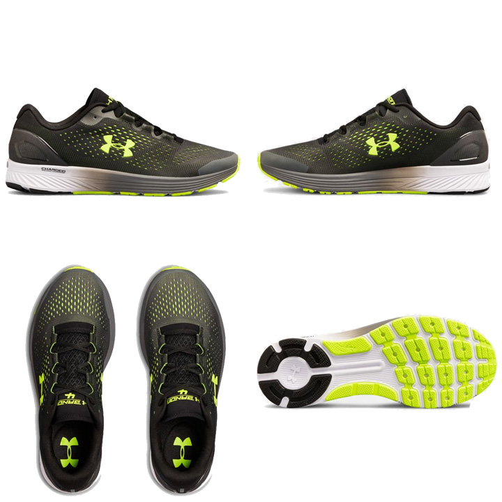 lower price with ccdc8 cea5b Under Armour UNDER ARMOUR チャージドバンディット 4 UA Charged Bandit 4 men's running  shoes sneakers black / yellow