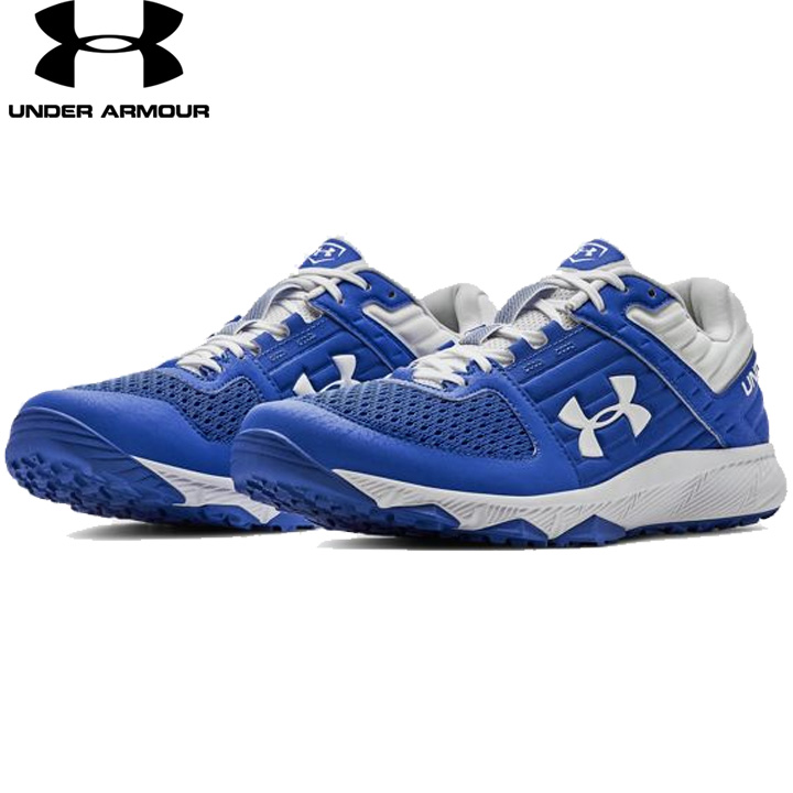 82ba2b19 UNDER ARMOUR under Armour baseball training shoes Blue/White blue / white  UA Yard Trainer ...