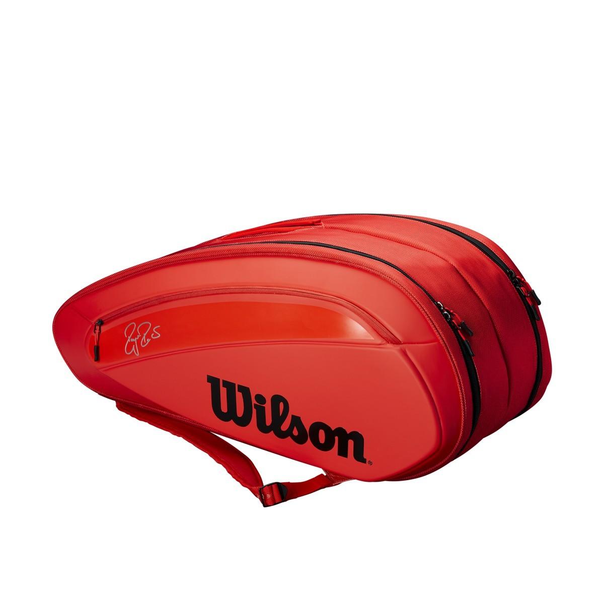 Wilson Federert Tennis Bag DNA 12 Red ラケットホルダー / ラケットバック / テニスバッグ