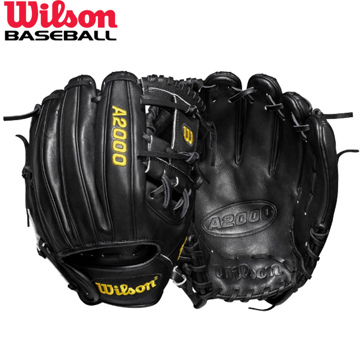 送料無料 【USA物】ウィルソン DUAL 野球 硬式 内野手用 グローブ グラブ A2000 Series Wilson 軟式使用可能 右投げ用 Hウェブ DP15 ブラック 小さめの手対応