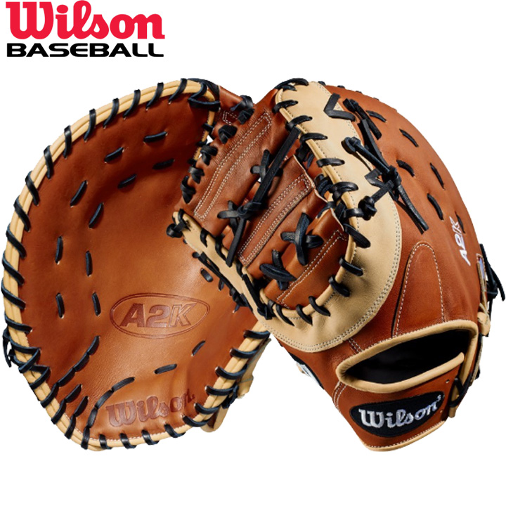 送料無料 【USA物】左用 ウィルソン 野球 硬式 ファーストミット ミット A2K シリーズ Wilson 1塁選手用 軟式使用可能 左投げ用