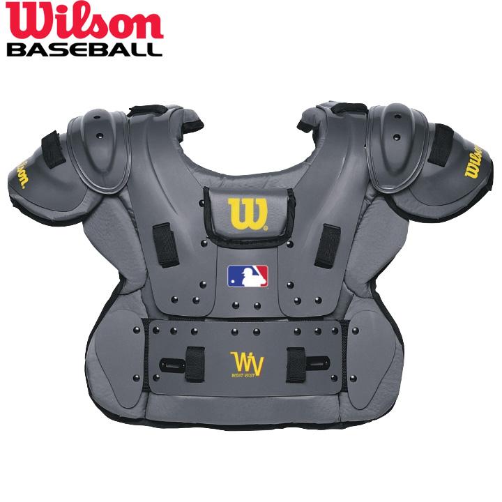 送料無料 最大2000円割引クーポン 期間限定特別価格 USA物 ウィルソン Wilson チェストプロテクター MLBロゴ入り プロプラチナ アンパイアギア 流行 審判用